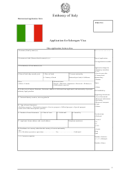 """Italian Application for Schengen Visa - Embassy of Italy"""
