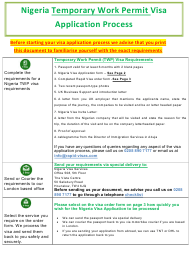 """Nigeria Temporary Work Permit Visa Application Form - Nigeria Immigration Service"" - Greater London, United Kingdom"