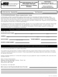 Form DC-119 Physician/Health Care Provider Report - Maryland