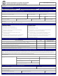 "Form CDTC-770 ""Application for Claiming Tax Credits"" - Missouri"