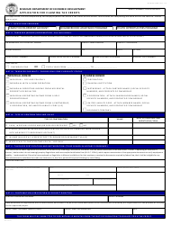 Form CDTC-770 Application for Claiming Tax Credits - Missouri