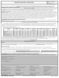 DD Form 2947 TRICARE Young Adult Application