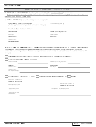 DD Form 2947 TRICARE Young Adult Application, Page 4