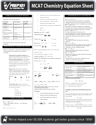"""Mcat Chemistry Equation Sheet - Prep101"""