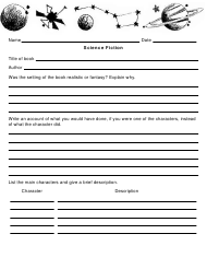 """Science Fiction Book Report Template"""
