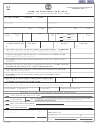 "Form SLS953 ""Report of Casual or Isolated Sale of Vessel or Boat"" - Tennessee"