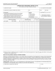 Form CMS-209 Laboratory Personnel Report (Clia)