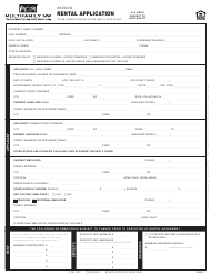 Rental Application Form - Multifamily Nw