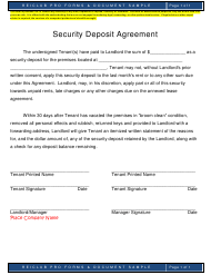 """Security Deposit Agreement Template - Reiclub Pro"""