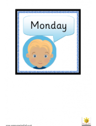 Boys And Girls Days Of The Week Cards