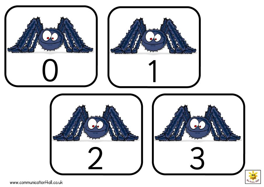 """""""Spider 0-50 Number Cards"""" Download Pdf"""