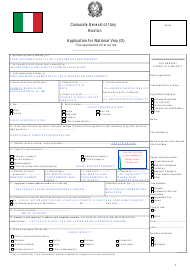 Italian Visa Application Form Templates Pdf Download Fill And Print For Free Templateroller