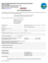 """Form DS-IR-1 """"Dam - Incident Report Form"""" - New York"""