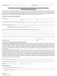 Form HCPC-FML Certification of Health Care Provider for Family Member's Serious Health Condition (Family and Medical Leave Act)