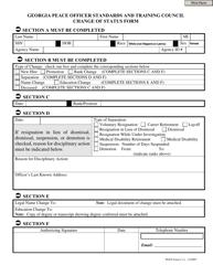 Change of Status Form - Georgia