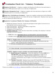 Voluntary Termination Checklist Template