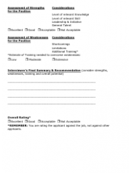 """""""Interview Rating Forms"""", Page 3"""