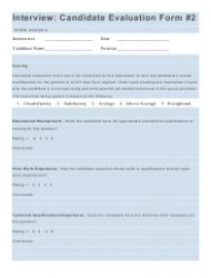 """""""Interview Rating Forms"""", Page 7"""