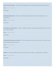 """""""Interview Rating Forms"""", Page 8"""