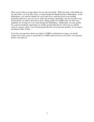 """Model Cobra Continuation Coverage Election Notice Form"", Page 2"