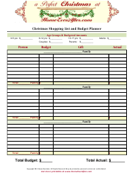 """Christmas Shopping List and Budget Planner Template"""