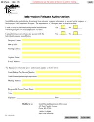 "Form SD1365 ""Information Release Authorization"" - South Dakota"