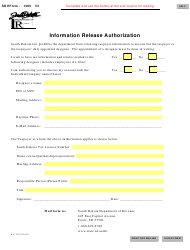 Form SD 1365 Information Release Authorization - South Dakota
