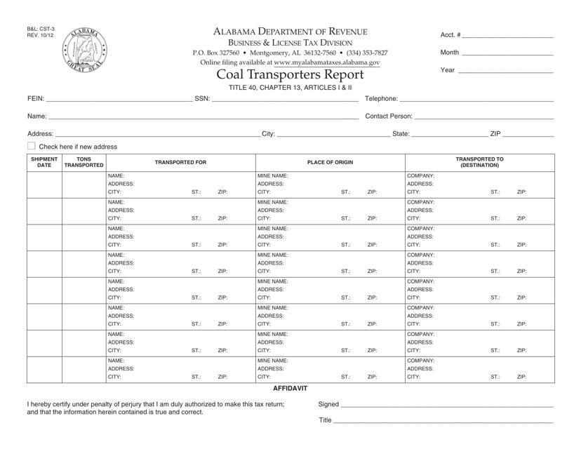 Form B&L: CST-3  Printable Pdf