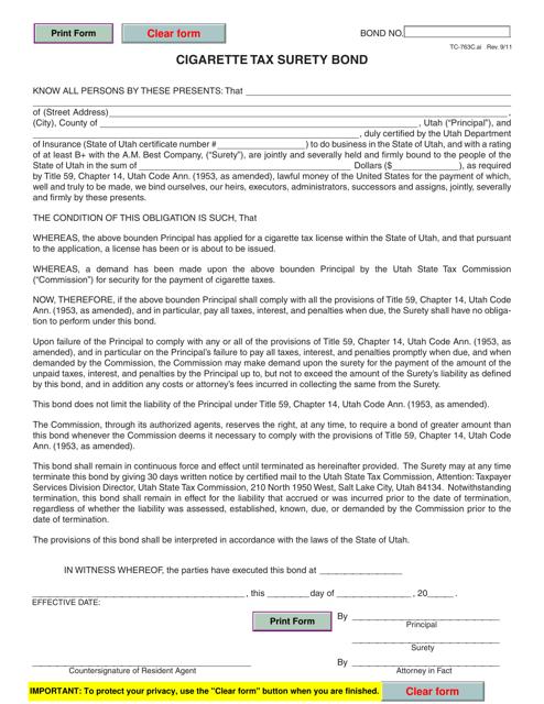 Form TC-763C  Printable Pdf