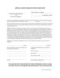 Application For Sentence Review - Georgia