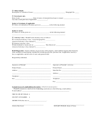 Eviction Petition Form - Harris County, Texas, Page 2
