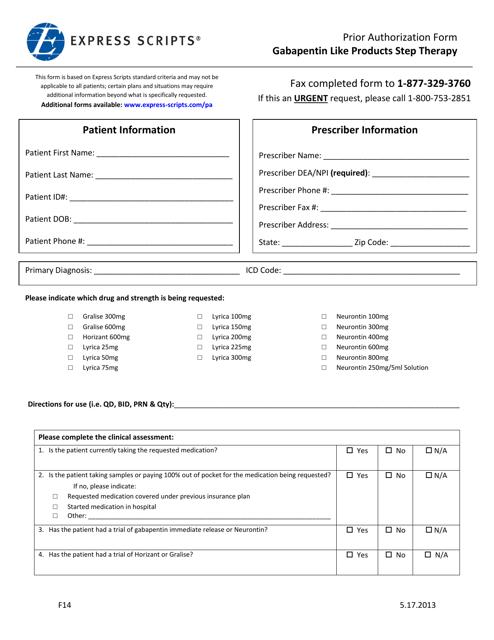 Form F14 Printable Pdf
