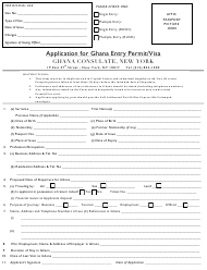 Ghana Visa Application Form Templates Pdf Download Fill And Print For Free Templateroller