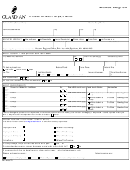 "Form CEF-2005TX ""Enrollment/Change Form - the Guardian Life Insurance Company of America"" - Washington"