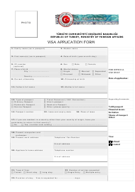 Turkish Visa Application Form