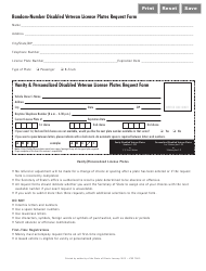 Disabled Veteran License Plates Request Form - Illinois, Page 2