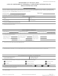 """OPNAV Form 5211/13 """"Loss or Compromise of Personally Identifiable Information (Pii) Breach Reporting Form"""""""