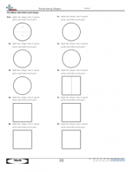 Partitioning Shapes Worksheet With Answer Key