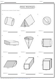 """Volume - Mixed Shapes Worksheet With Answers"""
