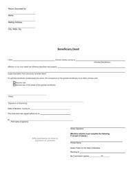 Beneficiary Deed Form - Montana