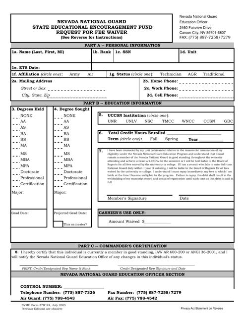 Form 37W R4 Printable Pdf