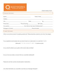 """Client Intake Form - Bodyworks Myofascial Release"""