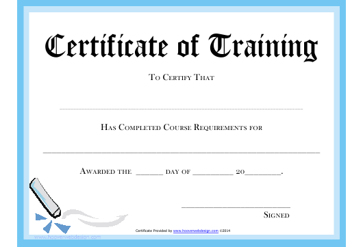 Certificate Of Training Completion Template from data.templateroller.com