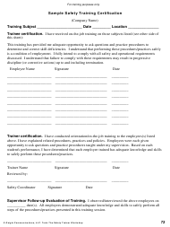 """Safety Training Certification Template - Geigle Communications"""