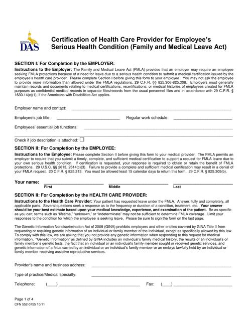 Form CFN552-0755  Printable Pdf