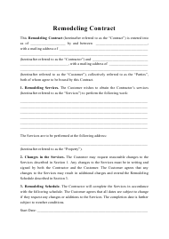 """Remodeling Contract Template"""