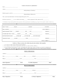 """Vessel Purchase Agreement Template"""