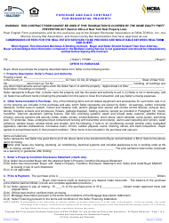 """""""Purchase and Sale Contract for Residential Property - Greater Rochester Association of Realtors"""" - Monroe County, New York"""