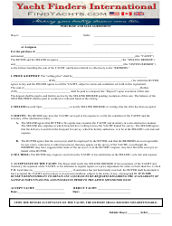 Purchase And Sale Agreement Template - Yacht Finders International