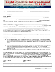 """Purchase and Sale Agreement Template - Yacht Finders International"""
